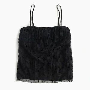 J. Crew Fluttery lace cami